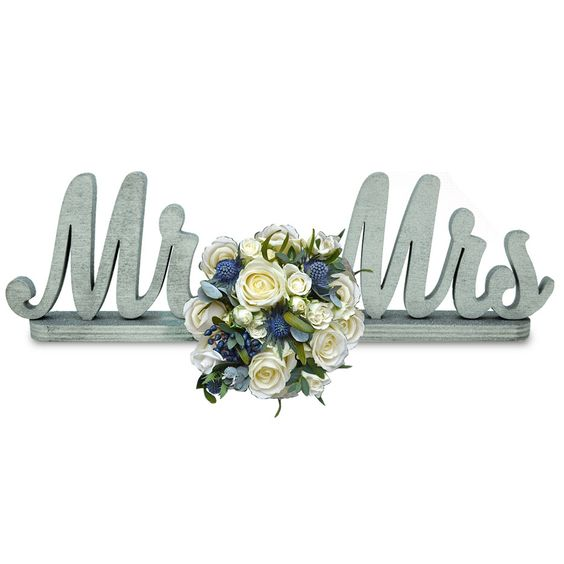 aMonogramArtUnlimited Mr and Mrs on a Stand Wedding Décor & Reviews   Wayfair