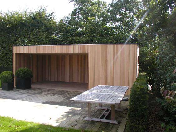 Tuinhuis kubus modern daniel decadt houten constructies houthandel proven huis - Huis modern kubus ...