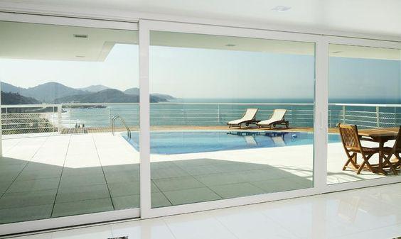 portas de vidro para fechamento de ambientes grandes - Pesquisa Google