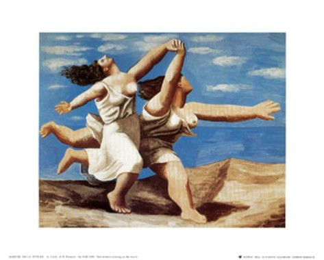 Women Running on the Beach, c.1922 by Pablo Picasso.  We saw this last year at Vmfa in Richmond...it was awe inspiring.