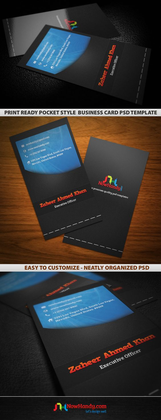 [PSD] Pocket Style Business Card Template Design