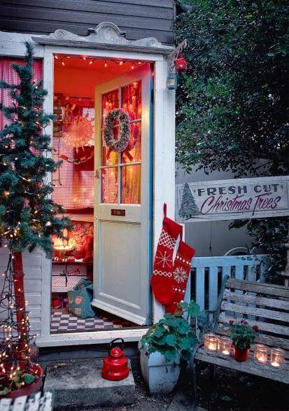 Festive Christmas Front door: