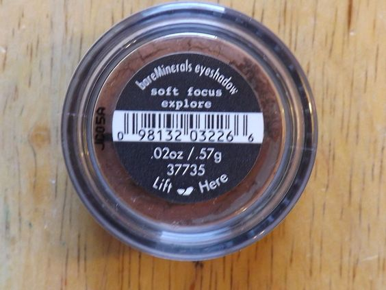 Bare Minerals Eye color Shadow Soft Focus Explore w/inner seal Authentic #BareMinerals