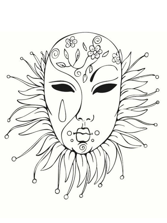 Coloriage masque de venise bing images carnevale - Coloriage carnaval de venise ...