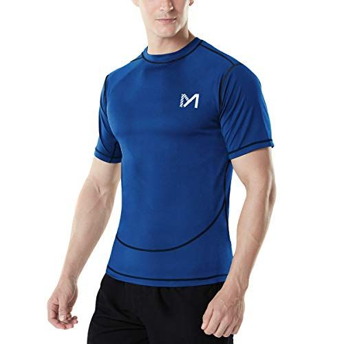 MEETYOO Tee Shirt Compression Homme Manche Longue Baselayer Maillot Running Vetement Fitness pour Sports Jogging Musculation