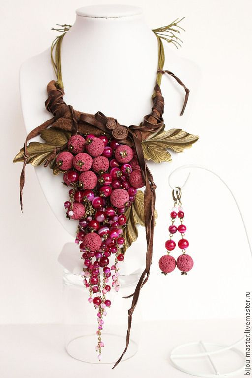 Купить ИЗАБЕЛЛА (вариация) - комплект - фуксия, малиновый, бордовый, виноград, виноградная гроздь, гроздь винограда
