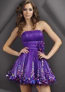vestido de 15 violeta
