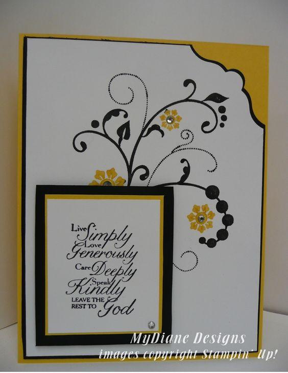 MyDiane Designs: Flowering Trust, Stampin' Up, Flowering Flourishes, Trust God, handmade cards