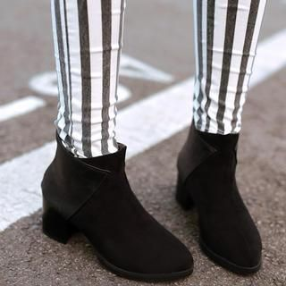 Paneled Chunky-Heel Ankle Boots from #YesStyle <3 Pangmama YesStyle.com