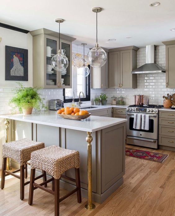 26 Modern Small U Shaped Kitchen Interior Design Ideas Molitsy Blog Remodel Layout