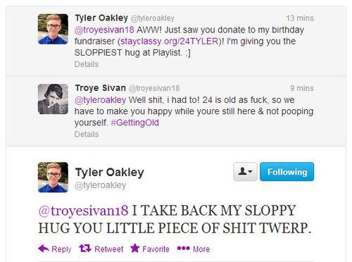 troye sivan and tyler oakley | HAHAHA Tyler Oakley youtubers troye sivan invisibilitycl0ak •