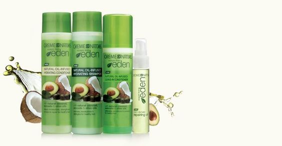 Creme of nature straight from eden  Infused with natural coconut - free mail sample