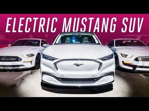 Ford Is Chasing Tesla With An Electric Mustang Suv Youtube Ford Electric Car Mustang Mustang Cars
