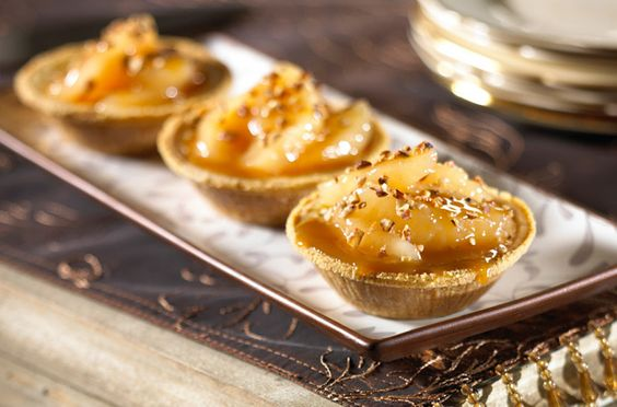 Caramel Apple Cheesecake Tarts