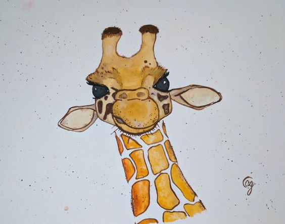 Hey, I found this really awesome Etsy listing at https://www.etsy.com/listing/502371591/giraffe-art-print-long-neck-painting-by