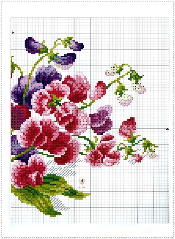 Lavores da Ana Paula --- Sweet pea cross stitch 1