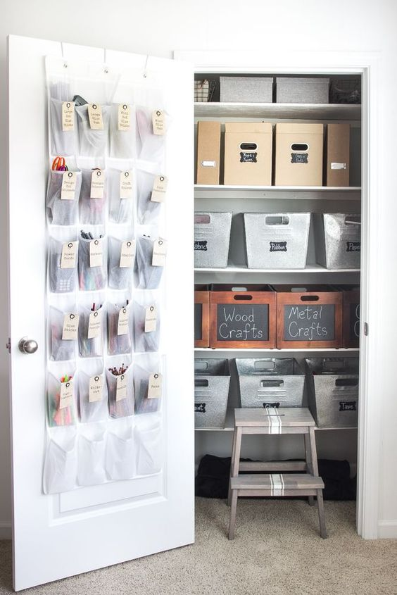 How to Organize a Craft Closet Like a Rockstar | http://blesserhouse.com - popular pin