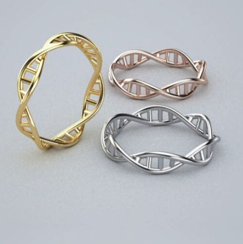 DNA DOUBLE HELIX EARRINGS NECKLACE OR SET Science Nerd Gift NEW Molecule Jewelry