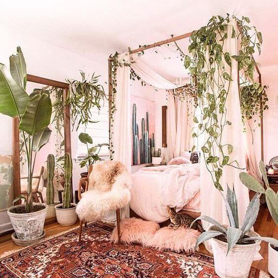 Bedroom Filled With Plants Garden Theme Bedroom Ideas Garden Bedroom Stylish Bedroom Design Bohemian Bedroom Decor