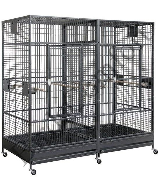 Hq Giant Double Bird Cages 80x40 Parrot Cage Bird Cages Bird