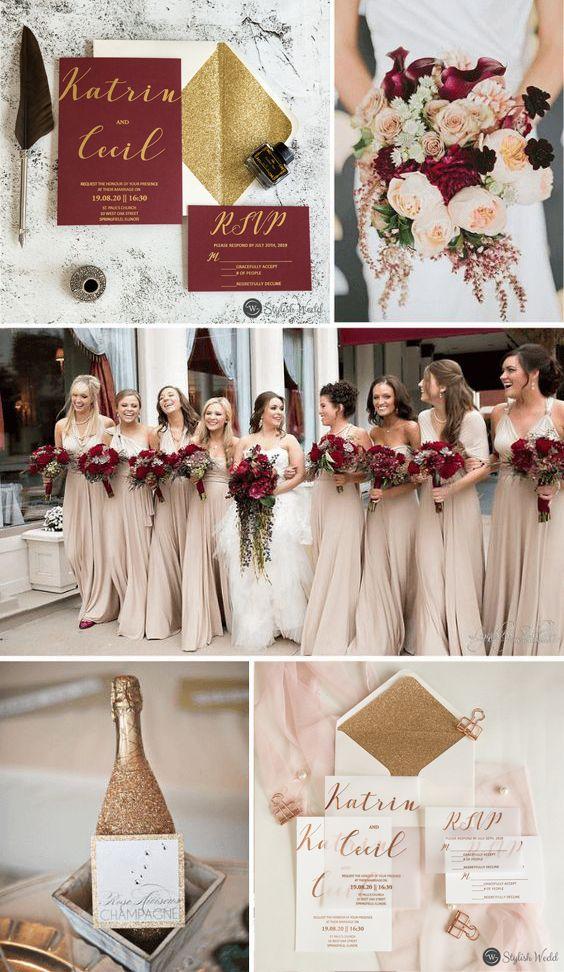 Modern Rose Gold Foil Vellum Paper Wedding Invitations Swfi005 Stylishwedd Gold And Burgundy Wedding Gold Wedding Theme Winter Wedding Colors