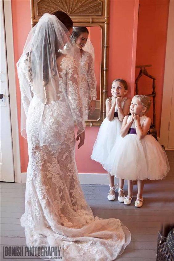Flower S Admiring The Bride Wedding Photography Photo By Pat Bonish Studio Cedar Key Fl Ideas Pinterest