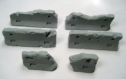 Terrain: Jersey Barriers - Damaged - Set of 5