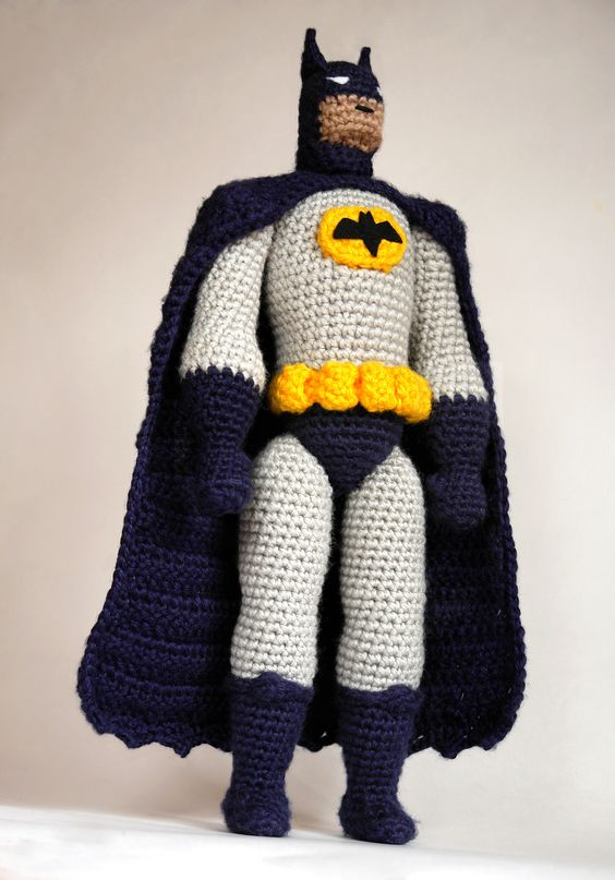 Free Amigurumi Superhero Patterns : Realistic amigurumi Batman! Crochet pattern by # ...