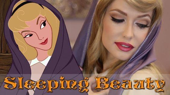 Sleeping Beauty Princess Aurora Briar Rose Makeup Tutorial