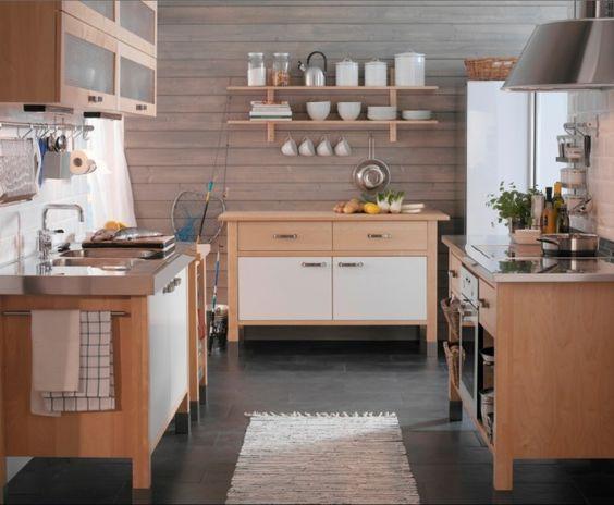 Varde base unit, from £180, Varde wall unit, £140, Ikea | cucine ...