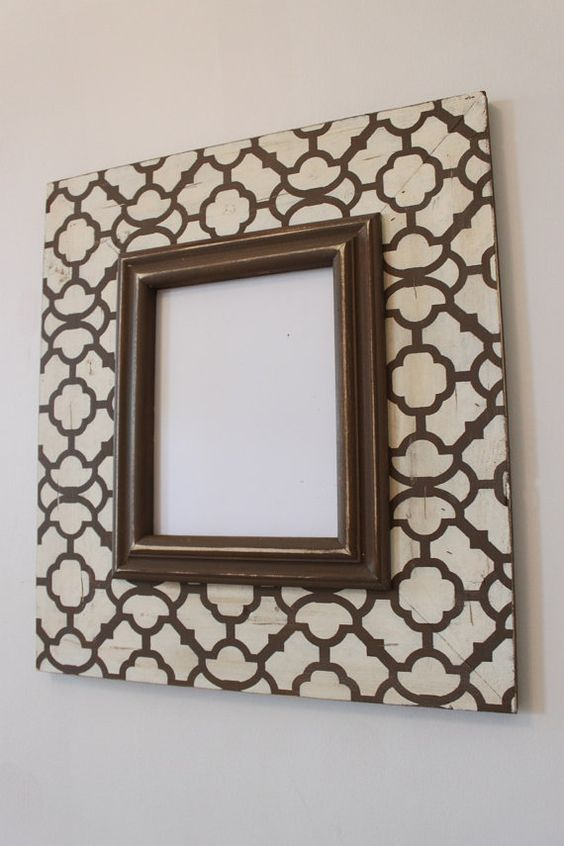 Etsy Transaction - Moroccan Wood Distressed Picture Frame 8x10 Hand ...