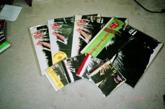"""RT @masarecords My """"Sticky Fingers"""" collection"""