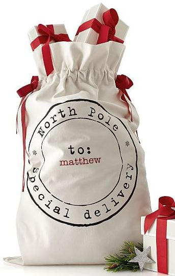 Love these personalized Santa sacks http://rstyle.me/n/t56shnyg6