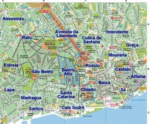 Mapa De Lisboa Conheca Todas As Regioes De Lisboa Voyage