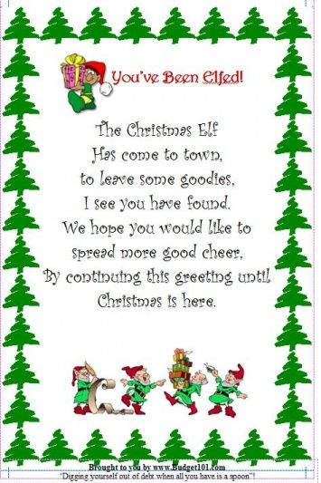 Christmas Centerpiece Poem : Budget christmas elf flyer homemade novelty
