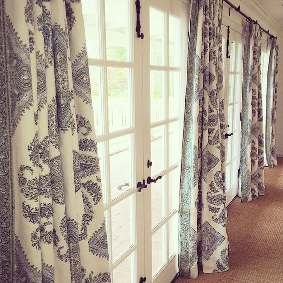Pinterest the world s catalog of ideas for Curtains for french doors ideas