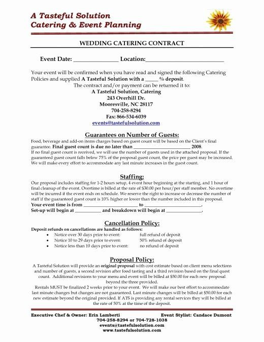 Party Planner Contract Template Beautiful Food And Beverage Tips For Your Wedding In 2020 Wedding Catering Near Me Wedding Catering Wedding Food Truck Catering