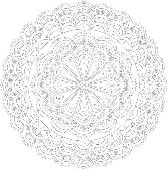 color by numbers dovers and mandalas on pinterest. Black Bedroom Furniture Sets. Home Design Ideas