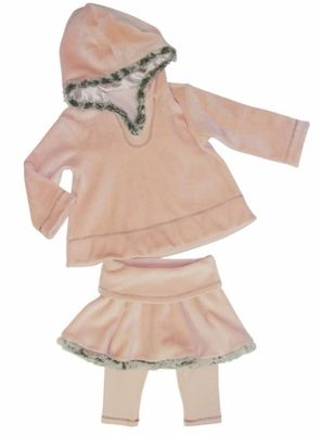 "Luna Luna ""Chipie"" Velour Blush Two Piece Skirt SetSize 12mo. - 14 years - click to enlarge"