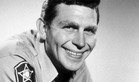 Andy Griffith as Sheriff Andy Taylor on 'The Andy Griffith Show'.