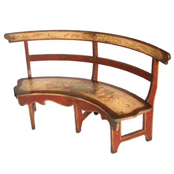 Curved Kitchen Bench: Cute Curved Bench #47837