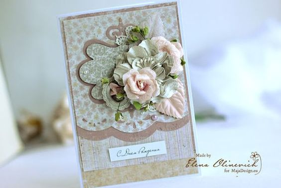 Wedding and Birthday cards from one paper sheet - Maja Design