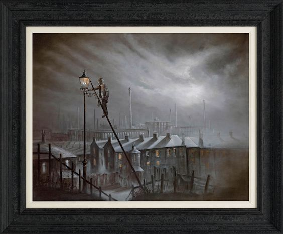 With Ladder and With Light by Bob Barker #art #winter #nostalgia