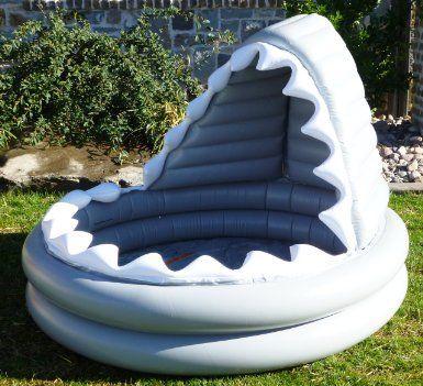 Pottery barn kids inflatable shark kiddie pool for Aufblasbarer pool gunstig