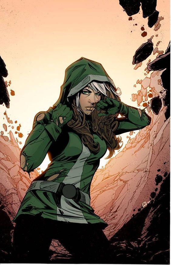 Znalezione obrazy dla zapytania rogue marvel comics shiny art