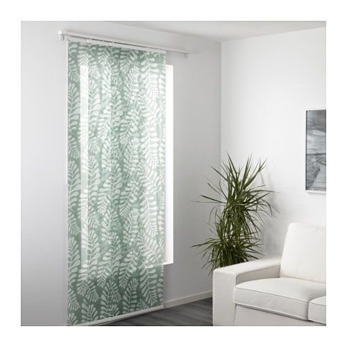 Yrla Draperie Panou Verde Alb Ikea Sliding Curtains Panel Curtains Ikea