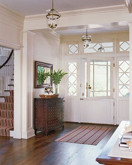 lovely entry with Dutch door, transom and sidelights