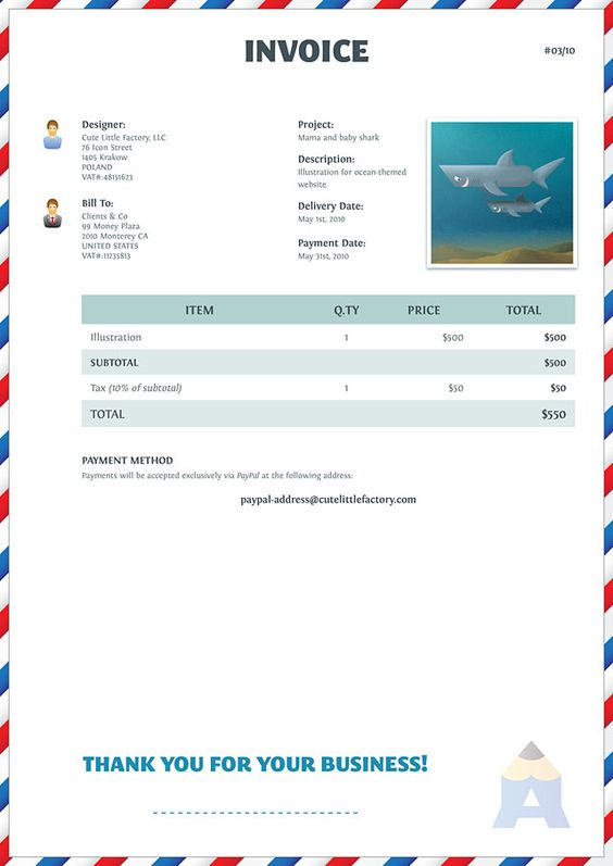 Design a Fun Invoice Template with Illustrator and InDesign Cute - how to creat an invoice