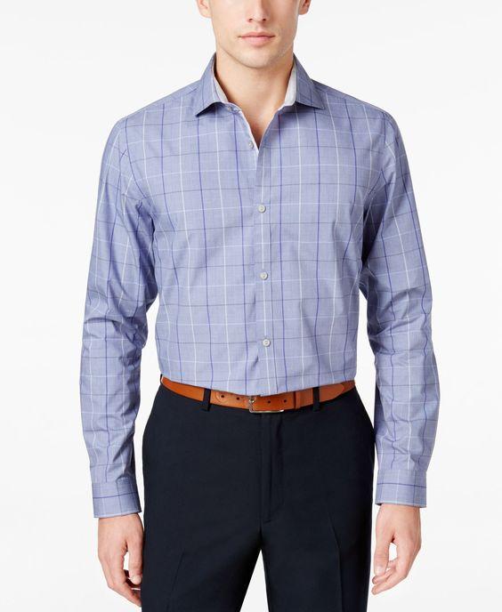 Calvin Klein Men's Infinite Cool Plaid Shirt