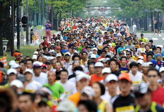 大阪マラソン初開催 #Osaka #Japan #Sports osaka marathon 2011